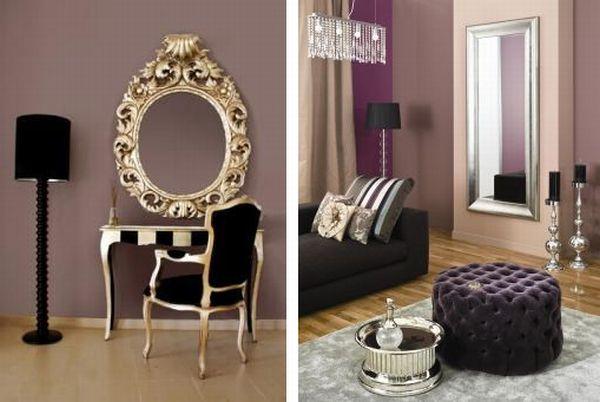 Modny salon w stylu glamour