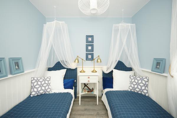 Kolory sypialni w stylu marynistycznym
